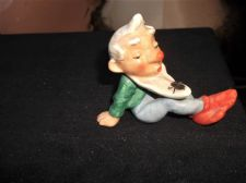 UNUSUAL OLD VINTAGE SMALL FIGURINE Regd GERMANY MAN WITH REALISTIC FLY ON BEARD